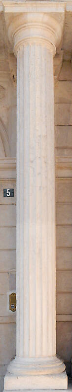 white stone complete pillar 2