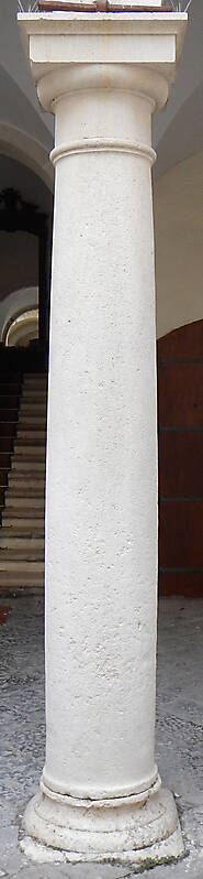 white stone pillar