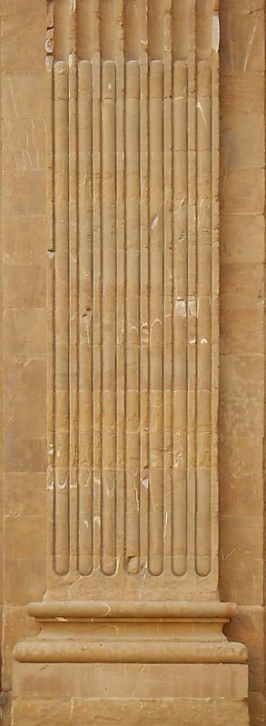 yellow stone greece pillar