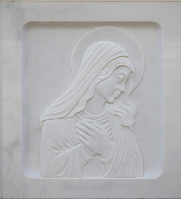 madonna on white stone ornament 5