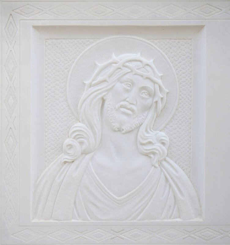 madonna on white stone ornament 9