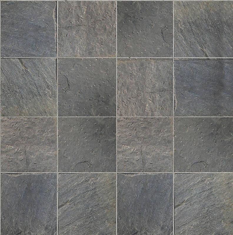 tiles black natural slate stone grout