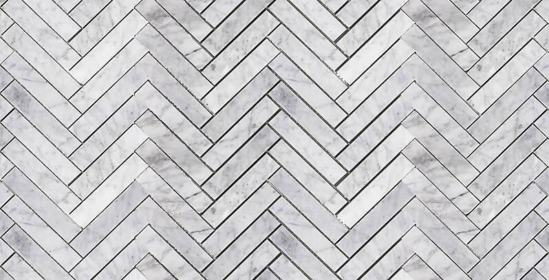 marble carrara white mosaic