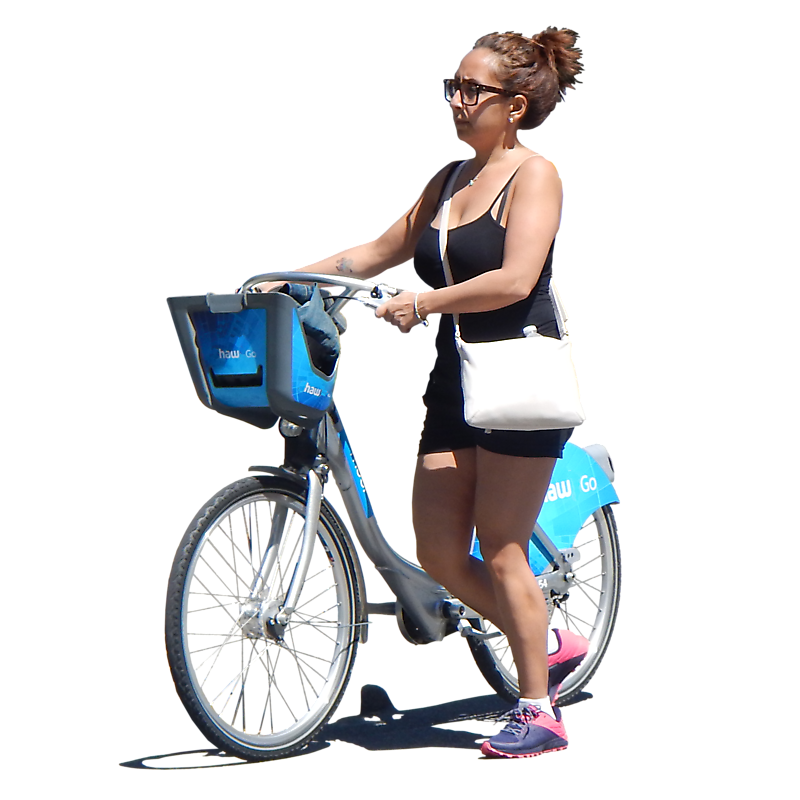 Texture - girl on bike png - People - luGher Texture Library