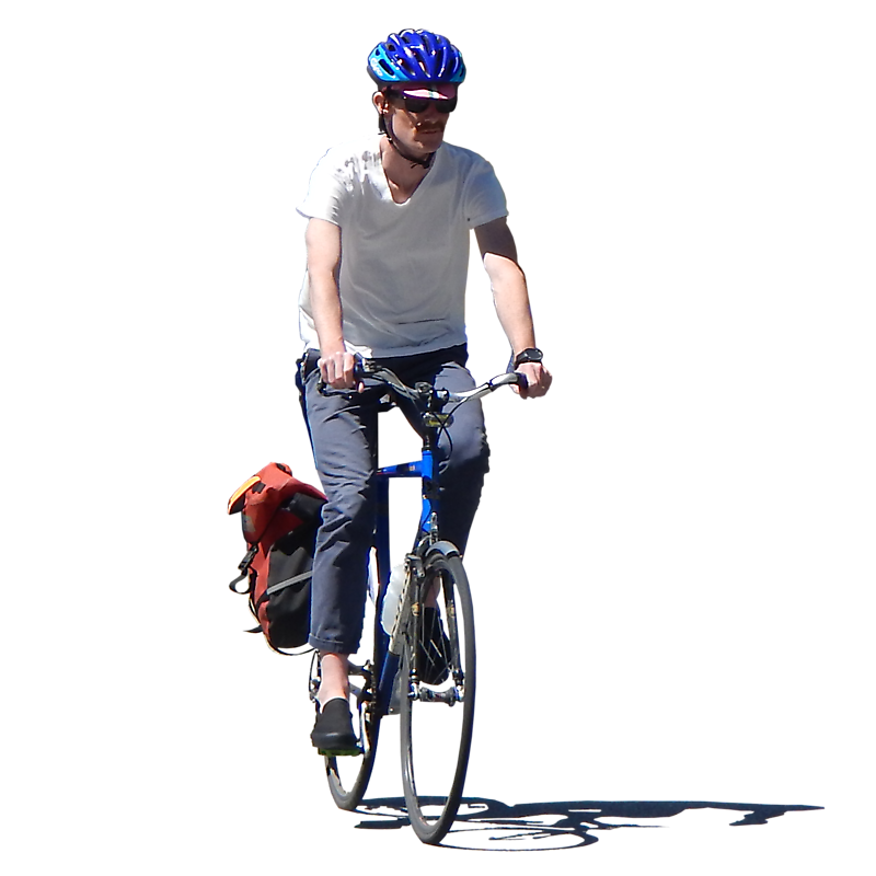 Texture - man on bike png - People - luGher Texture Library