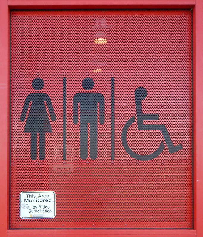 washrooms sign plate