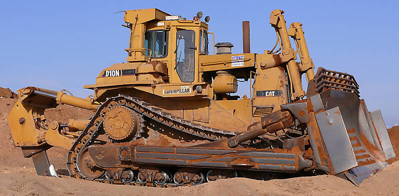 bulldozer cat