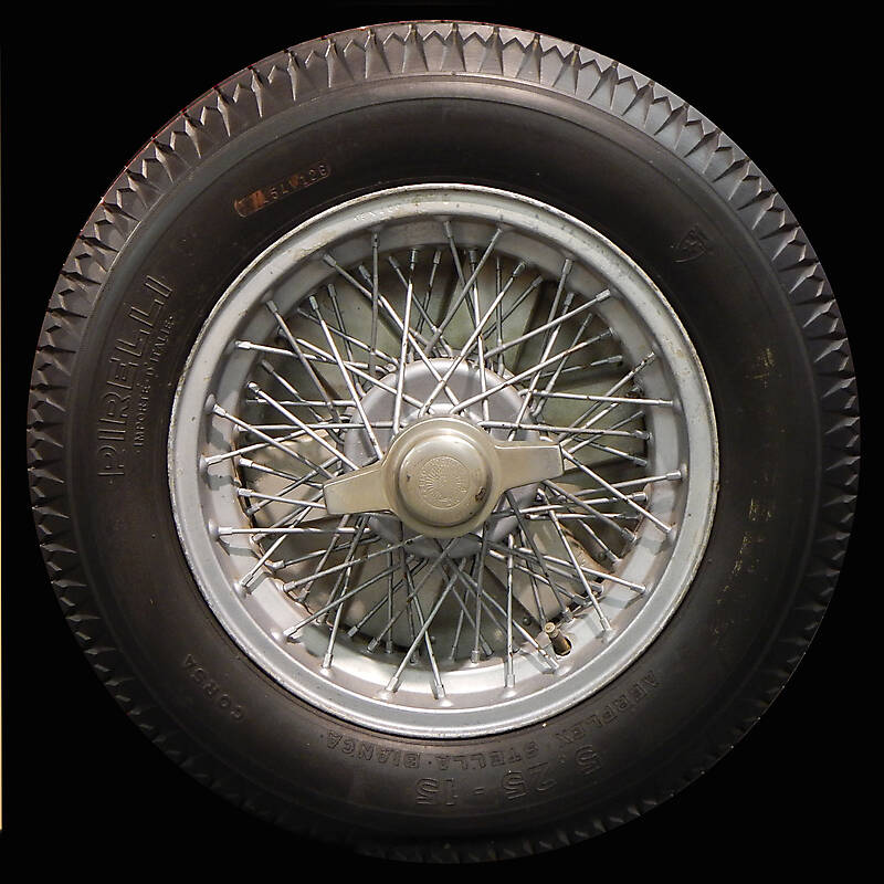 old ferrari car wheel and tyre