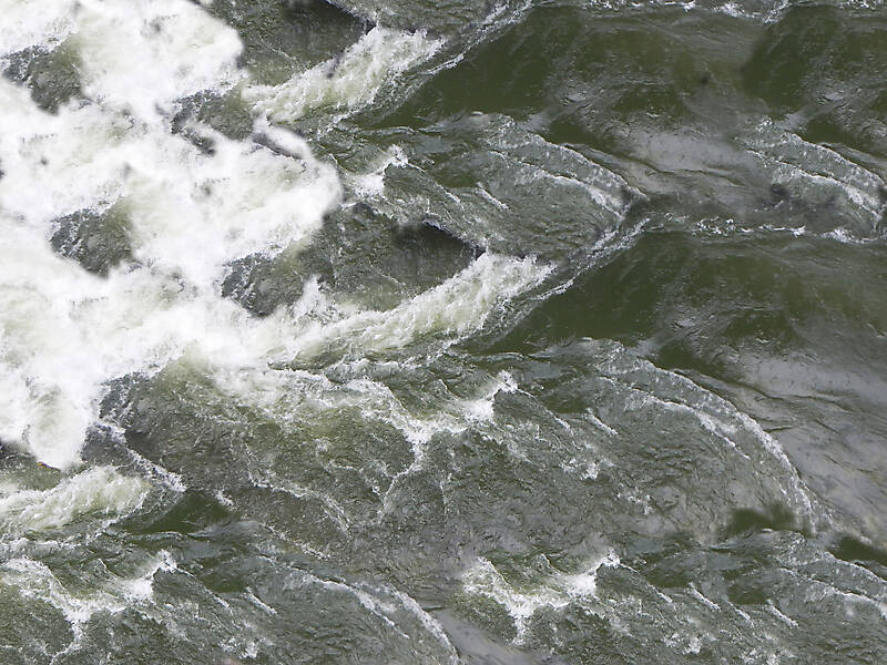 river water with foam