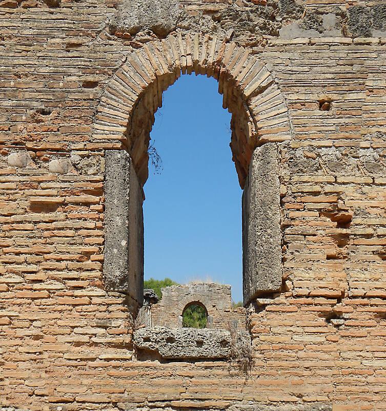 bricks arch old window