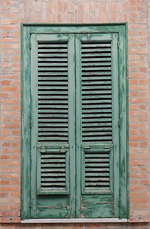 venice style old window