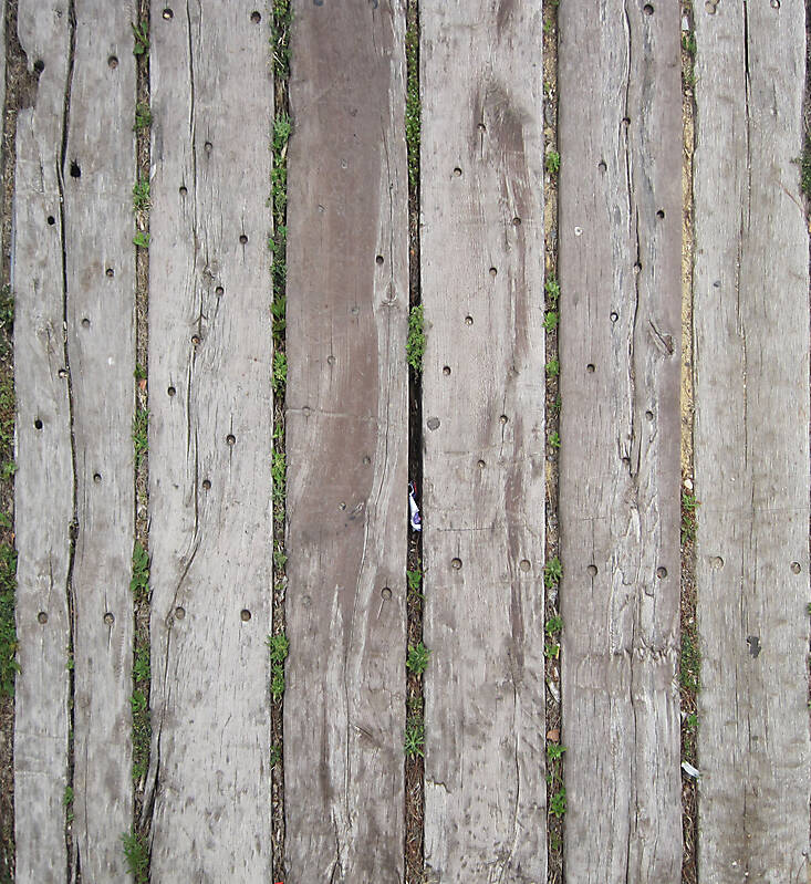 wood planks grey corrugated old fence 3