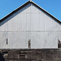 barn metal and wood