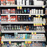 market shelves deodorants