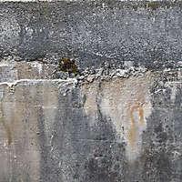 concrete rain stains