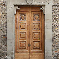 medieval old wood door 11