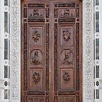 medieval old wood door 13