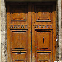 old ancient door from spain downtown 6