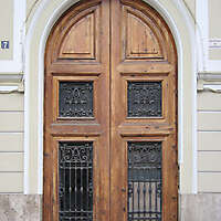 old ancient door from spain downtown 9