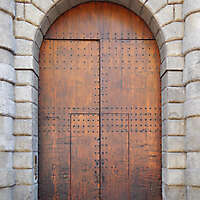 old clean decorated wood door 3