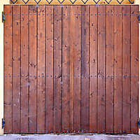 old clean decorated wood door 4
