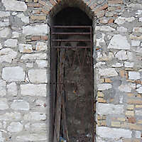 greek old arch door