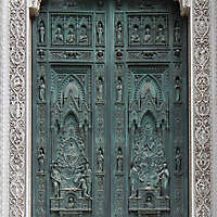 medieval old wood door 8