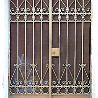 metal cage greece door 3