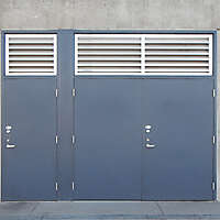 metal door blue