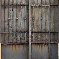 metal rusty cage grey paint 4