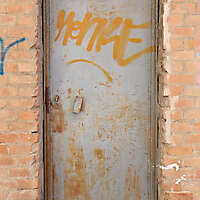 metal rusty door grey paint 1
