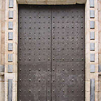 old ancient door from spain downtown 16