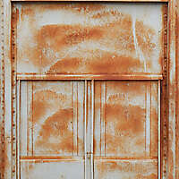 rusty paint door gray paint
