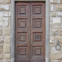 clean old style wood door 12