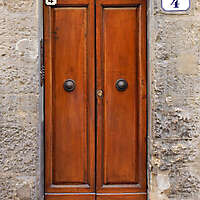 clean old style wood door 14