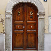 neoclassical wood door 1