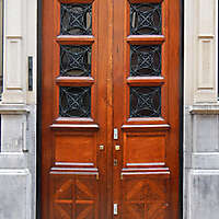 neoclassical wood door 23