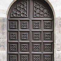 old ancient door from spain downtown 10