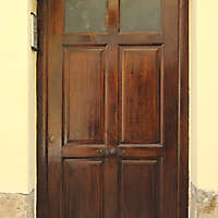 old ancient door from spain downtown 4