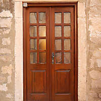 old clean decorated wood door 10