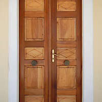 old clean decorated wood door 15