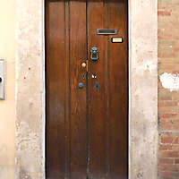 old clean decorated wood door 23