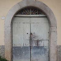 ancient very old rustic damaged door 1