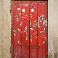 ancient very old rustic damaged door 6
