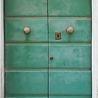 door medieval green year 1900