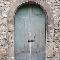 door medieval old paint year 1600