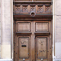 old ancient door from spain downtown 21