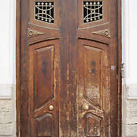 old ancient door from spain downtown 2
