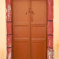 old clean decorated wood door 14