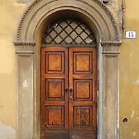 old clean decorated wood door 2